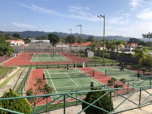 Four Tennis courts at Escuela Santa Maria del Valle.